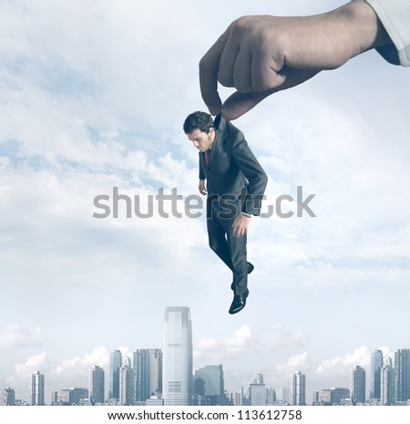 Concept of a failure of a businessman - stock photo