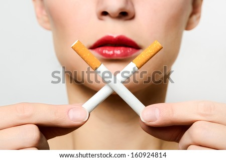 Concept of a slow death from smoking