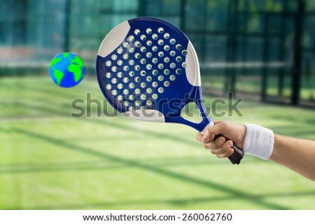 concept of an international championship paddle - stock photo
