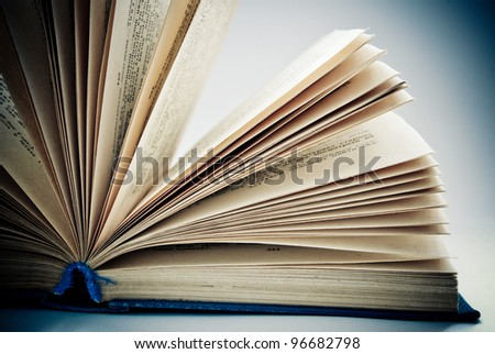 concept of an open book - stock photo