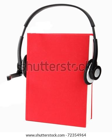 Concept of audio-book - stock photo
