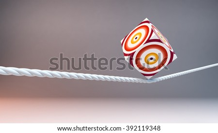 concept of balance and stability, rope - stock photo