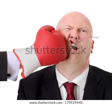 Concept of beating to competition isolated on white background - stock photo