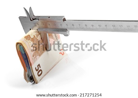 concept of budget consolidation - stock photo