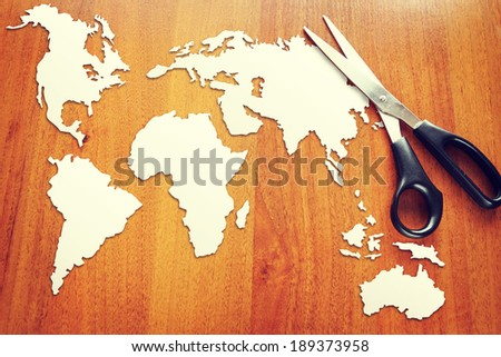 Concept of changes in global geopolitical situation - stock photo