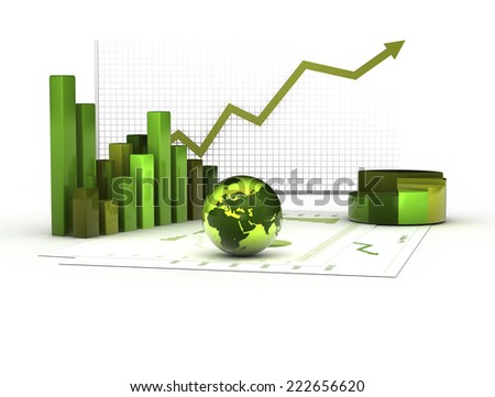 concept of clean and sustainable economy - stock photo