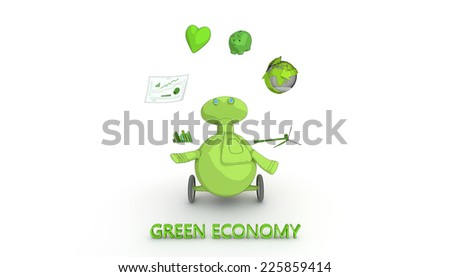 concept of clean and sustainable economy