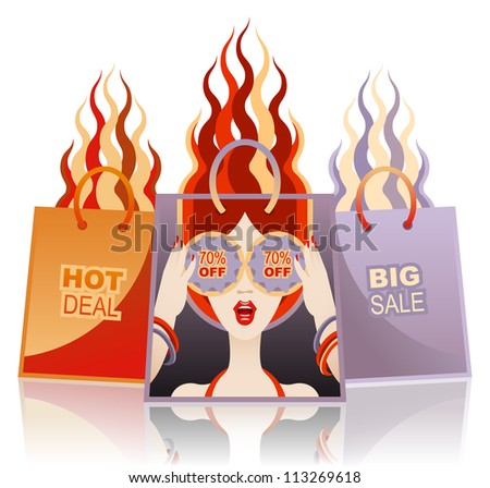 Concept of clearance sale or special offer - stock photo