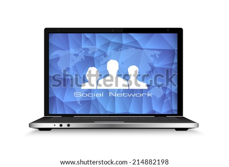 Concept of communication in the network. - stock photo