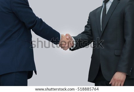 concept of confidence in partner - handshake of business partner
