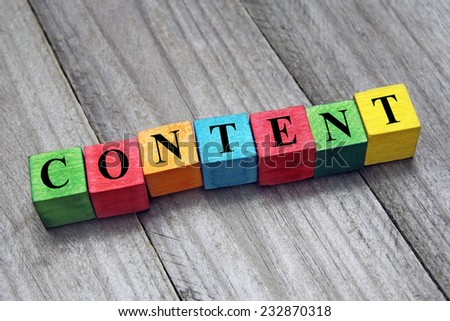 concept of content - stock photo