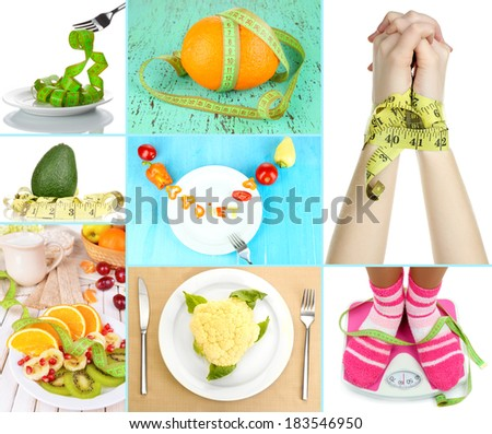 Concept of dieting - stock photo