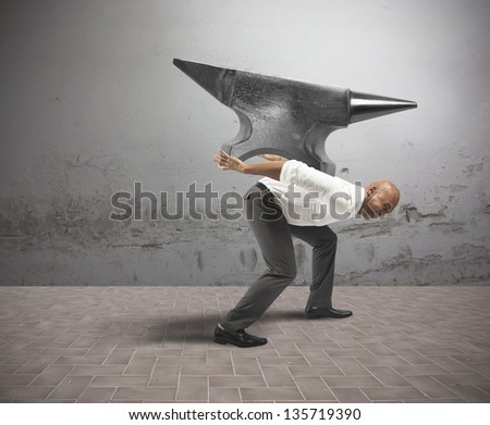 Concept of difficult career in business - stock photo