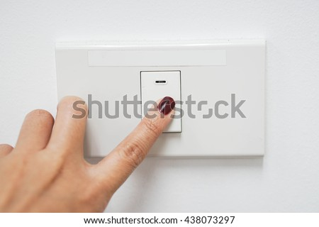Concept of energy saving by turn the light off