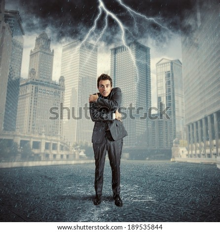 Concept of failure due to business crisis - stock photo