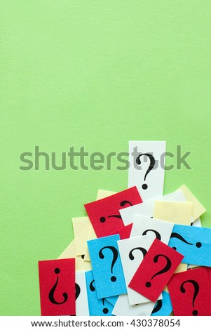 concept of FAQ word - question mark icon - frequently asked questions - stock photo