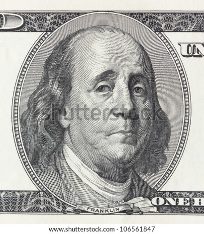 Concept of financial crisis - crying president Franklin on the hundred dollar bill