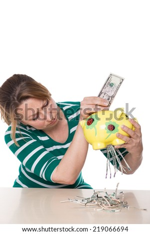 Concept of financial crisis destroyed invested money - stock photo