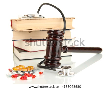 Concept of forensic medicine close up - stock photo