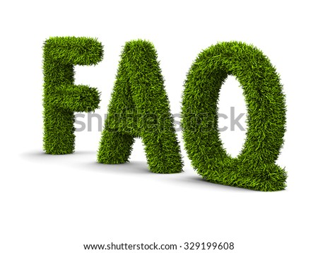 concept of Frequently Asked Question - stock photo