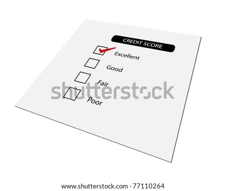 Concept of good credit score for business - stock photo