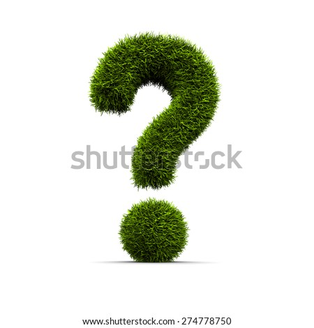 Concept of grassed question symbol - stock photo
