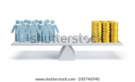 concept of hired workers - stock photo