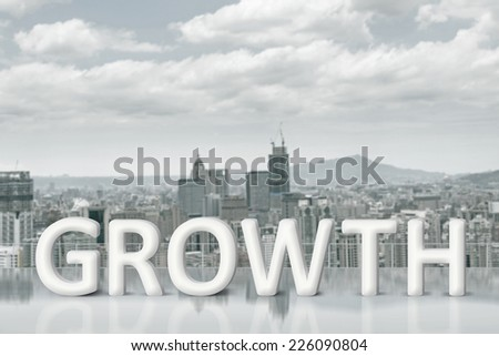 Concept of improve, increase, boost etc. Images with 3d text  and copyspace under sky. - stock photo