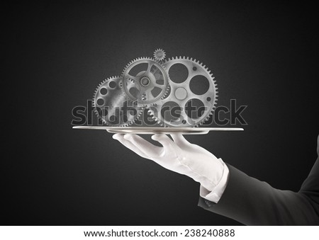 Concept of integration assistance and partnership - stock photo