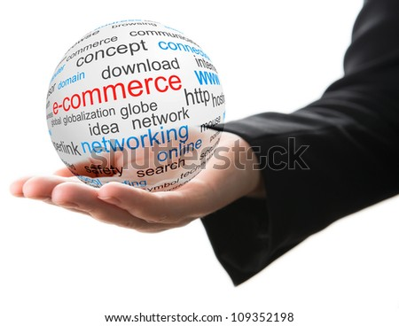 Concept of internet commerce - stock photo