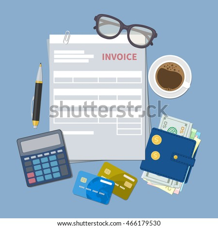 Invoice Template Free Printable Paper Bank Above Stock Photos Royaltyfree Images  Vectors  Bmw Invoice Price Word with Send Invoice Concept Of Invoice Payment Paper Invoice Form Tax Receipt Bill Wallet Avis Online Receipt