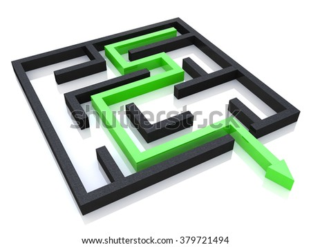 Concept of labyrinth in the design of access to information relating to the business