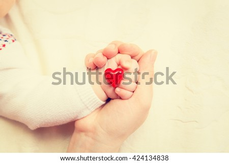 concept of love and family - stock photo