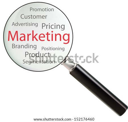 Concept of marketing consists of pricing, product, branding, customer, promotion, advertising, positioning and segmentation