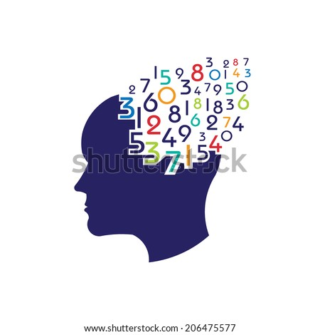 Concept of mathematical brain.