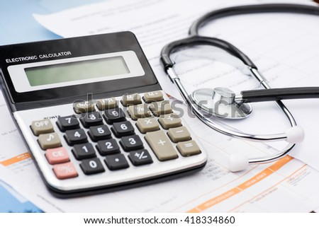 Concept of medical expenses - stock photo