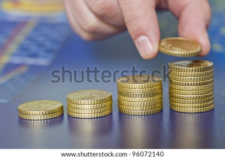 Concept of money growth with amazing colors and good light - stock photo
