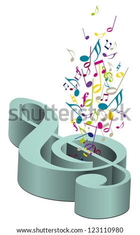 Concept of music - stock photo