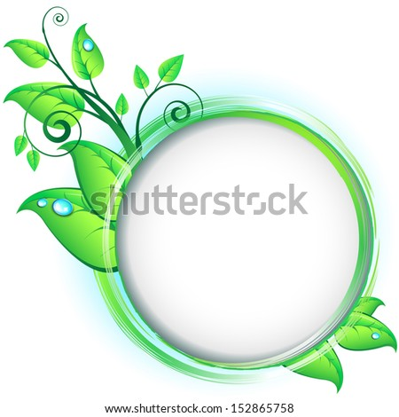 Concept of natural design elements with leafs and sprouts.