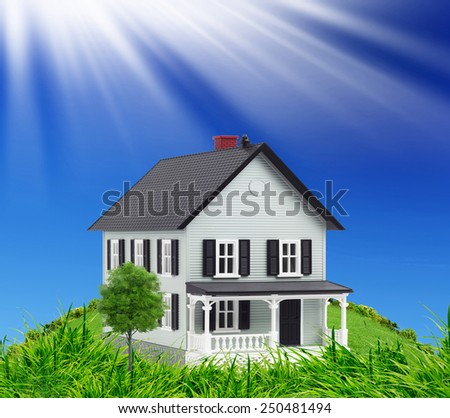 Concept of new house - stock photo