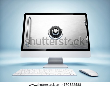 concept of online banking - stock photo