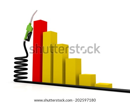 Concept of Petrol price increases - stock photo