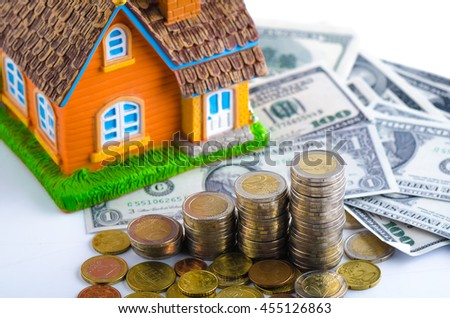 stock photo concept of real estate investments home insurance savings plans for housing 455126863 home insurance stock images, royalty free images & vectors,Home Insurance Plans
