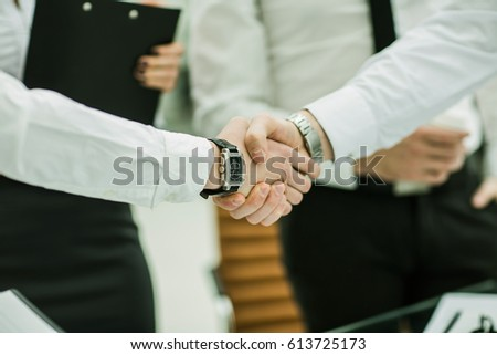 concept of reliability and partnership - handshake of business p