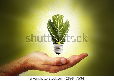 Concept of renewable energy - stock photo