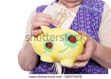 Concept of retirement plan is destroyed - stock photo
