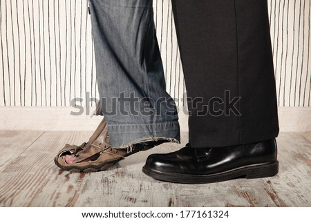 Image result for shutterstock image of a rich and a poor guy