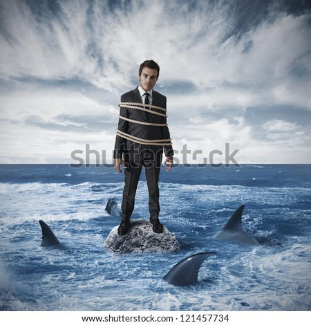 Concept of risk in business - stock photo