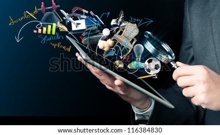 Concept of searching on web - stock photo