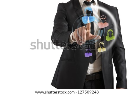 Concept of social network interface - stock photo